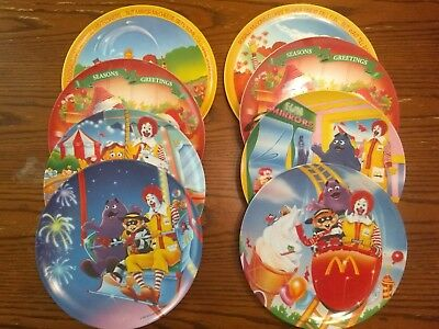 Mcdonalds collectible plates, set of 8
