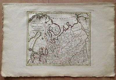 NORTHERN RUSSIA MOSCOVIA XVIIIe CENTURY by BLONDEAU ANTIQUE COPPER ENGRAVED MAP