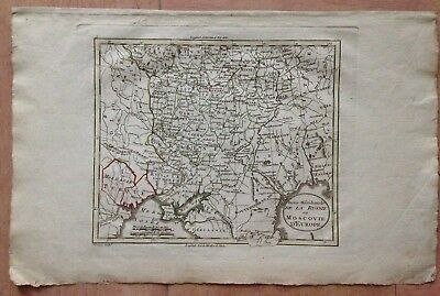 SOUTHERN RUSSIA MOSCOVIA XVIIIe CENTURY by BLONDEAU ANTIQUE COPPER ENGRAVED MAP