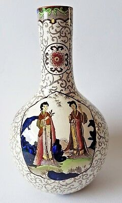 Old Oriental Type English Pottery Vase S.hancock & Sons Corona Ware Chien-Lung