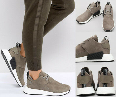 f4bcbcf48 MENS ADIDAS ORIGINALS NMD C2 Suede Brown Sneakers BY9913 NEW ...
