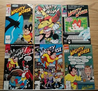 Mighty Mouse Marvel Comic Lot! 1 6 7 8 9 10! 6 Issues!
