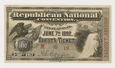 1892 Republican Convention - Minneapolis - Guest - Minnehaha Waterfall And Eagle