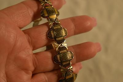 Stunning Rare Antique Ornate Thick Yellow Gold Filled Victorian Bracelet