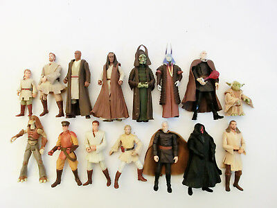 Star Wars Episode 1 Action Figuren Sammlung Lot Hasbro 3.75 Trilogy Saga