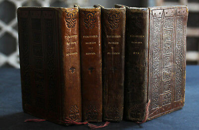Rare Antique French Estate Lot of 4 Religious Books For The Four Seasons Scarce