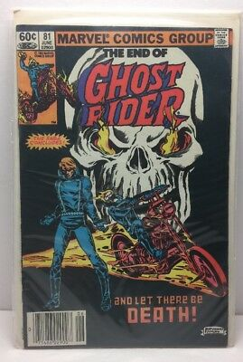 Ghost Rider # 81 - Death of Ghost Rider & last issue VG Lines on Cover B1