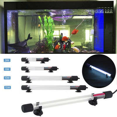 3W 6W 10W 15W UV-Licht Sterilisator Aquarium Licht Aquariumlampe Wasserdicht LED