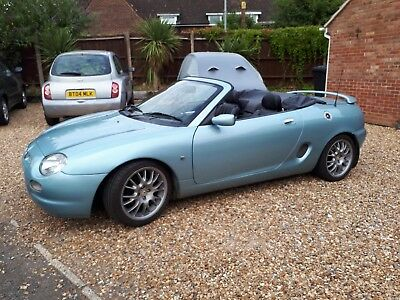 MG F 1800 SE 5 speed convertible, rare Wedgewood Blue good condition