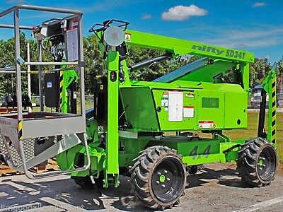 Nifty SD34T 40' Boom Lift,4WD,Only 4100Lbs,Kubota Diesel Power,Brand New 2018
