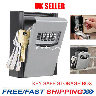 OUTDOOR SECURITY WALL MOUNTED KEY SAFE BOX CODE SECURE LOCK STORAGE 4 Digit UK
