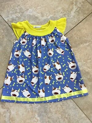 Sunshine Swing ~ Adorable!!  Adorable!!  Silly Face Dog Tunic Top ~ Size 5-Eeuc