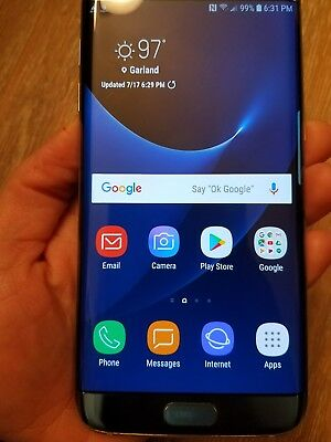 Galaxy s7 edge att used works fine but screen is cracked ( extra case included )