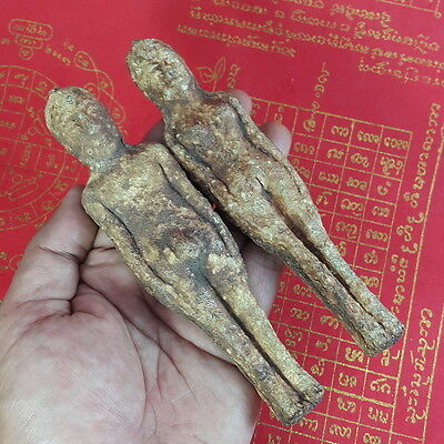 2 piece Voodoo Doll Tree Ghost Spirit Occult Witchcraft Buddha Thai Amulet