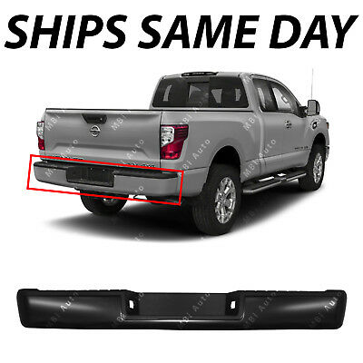 NEW Primered Steel Rear Step Bumper Assembly for 2017 2018 Nissan Titan XD Truck