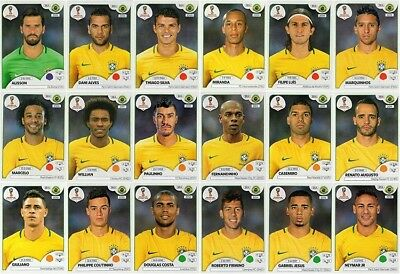 Pick Any Brazil Player - Panini Stickers World Cup 2018 - Buy 3 Get 3 Free*