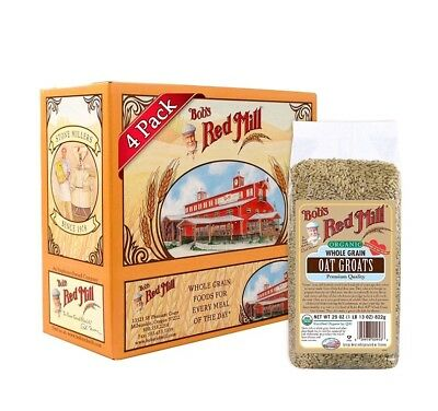 Bobs Red Mill Organic Oats Whole Groats, 29 Ounce Pack of 4