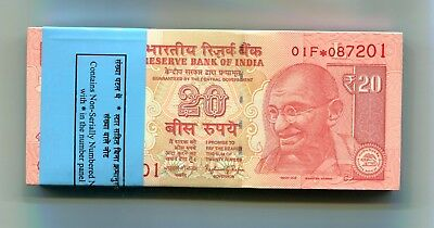 INDIA 20 Rupees 2016 P-103-NEW UNC REPLACEMENT * lot 10 pcs