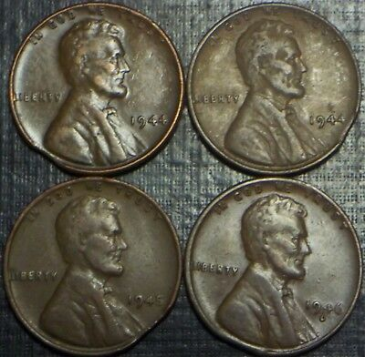 Rare Lot Of 4 Lincoln Cent Error Clipped Planchet Scarce We Combine Shipping!!!!