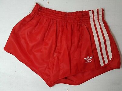 """Vintage ADIDAS shorts Red with White trim Size 7 - 36"""" (91cm)"""