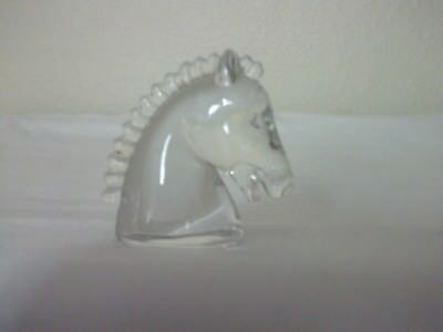Glass horse head miniature