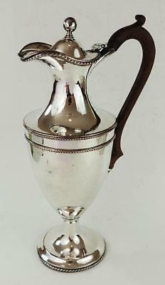 GEORGE III OLD SHEFFIELD PLATE VASE-SHAPED LIDDED JUG c1800