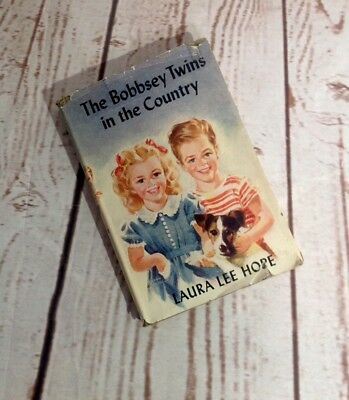 The Bobbsey Twins in the Country 1950 Book #2 By Laura Lee Hope Dust jacket HB