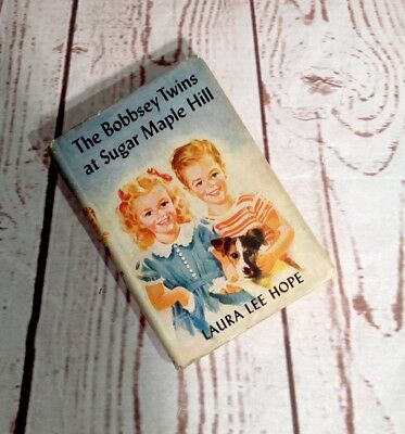 The Bobbsey Twins at Sugar Maple Hill Book #39 By Laura Lee Hope Dust Jacket HB