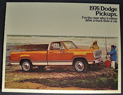 1976 Dodge Pickup Truck Brochure Adventurer SE D100 200 300 Excellent Original