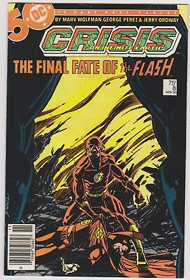 Crisis on Infinite Earths 8 DC Comics lot incl. #8 Death of Flash NO RESERVE!