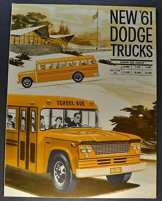 1961 Dodge School Bus Truck Brochure S400 S500 S600 Excellent Original 61