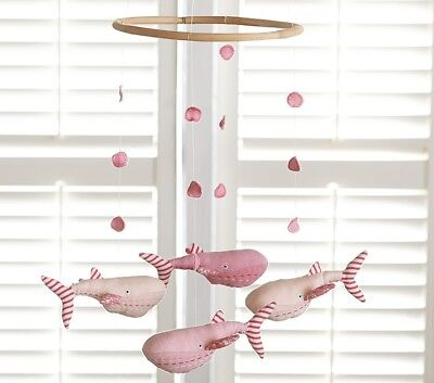POTTERY BARN KIDS Pink Whale Baby Crib Mobile