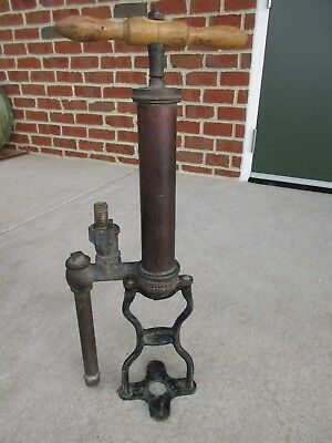 Perkes Phila Brass Pump Antique Circa 1915  Industrial Bicycle Steampunk Antique