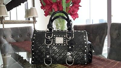 5f93ec96942e Pre-Owned Black Versace Tote Satchel Handbag with Studs