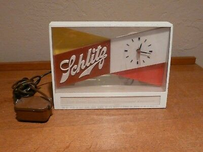 Vintage** 1955 Schlitz Beer Sign Clock Form 704  Beer That Made Milwaukee Famous