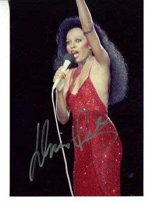 DIANA ROSS autograph HAND SIGNED 1119