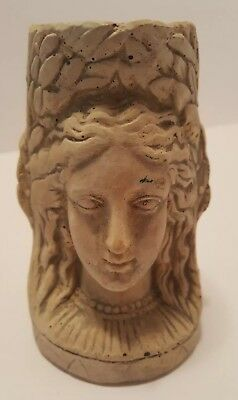 Hayes Parker Plaster Candleholder Lady Woman Goddess Two Sided 1968 Faroy, Inc.