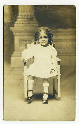 1900s BOY WITH CURLD HAIR GRANDSON OF AFRICAN AMERICAN PIONEER JAMES H BLACKWELL