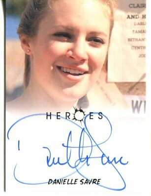 HEROES actor DANIELLE SAVRE autograph HAND SIGNED 1239
