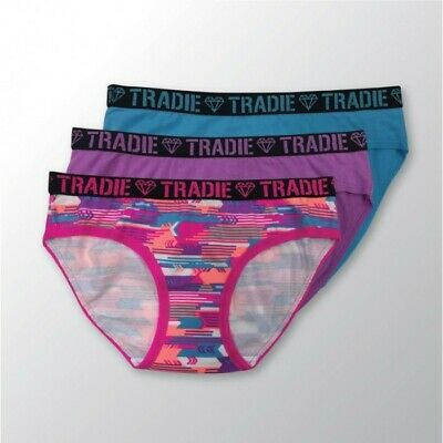 Girls Tradie 3 Pack Cotton Underwear Bikini Briefs Aztec Zap (SB3)