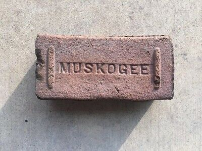 Antique..Near Mint Condition..MUSKOGEE BRICK..Muskogee, Oklahoma