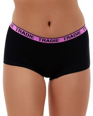 Ladies Tradie 2 Pack Cotton Underwear Boyleg Shortie Briefs Core (SL2)