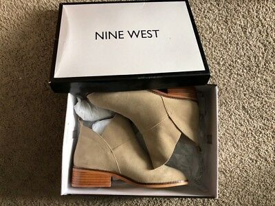 nine west real leather suede ankle boots size 7