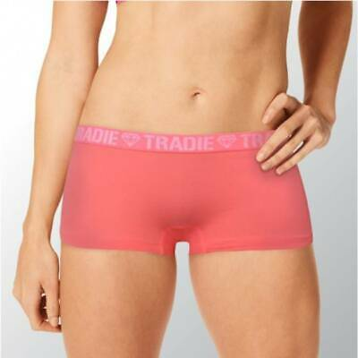 Ladies Tradie 2 Pack Cotton Underwear Boyleg Shortie Briefs Electric (SL2)