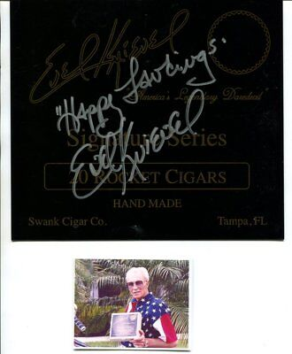 EVEL KNIEVEL autograph HAND SIGNED 1340