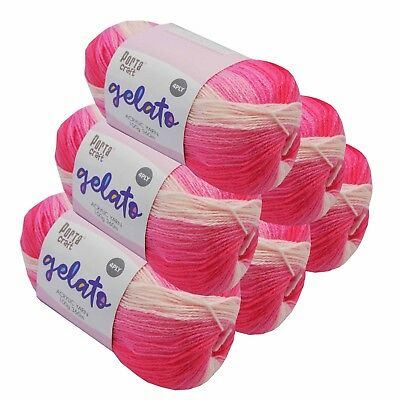 Gelato Acrylic Yarn 100g 360m 4ply Stawberry
