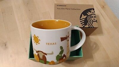 TEXAS Starbucks You Are Here YAH Series Coffee/Tea 14-Oz. Mug in Gift Box NEW
