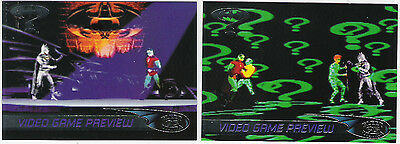 Batman Forever Fleer Ultra Complete 2 Card Video Game Preview Insert Set.