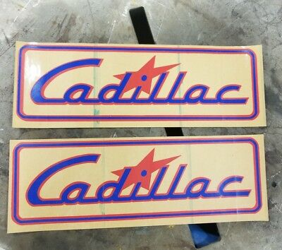 "Rare Factory NOS Vintage CADILLAC BOATS set of Decals NOS 11"" x 3.5"""
