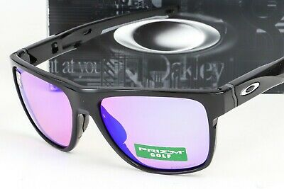3337dd8609 NEW OAKLEY CROSSRANGE XL SUNGLASSES Black frame   Golf Prizm lens OO9360 -0458